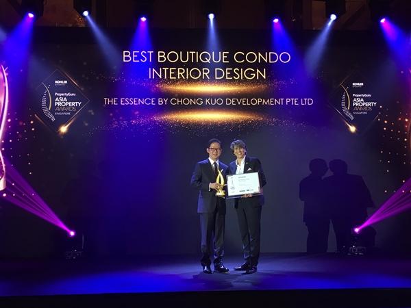 The Essence won Best Boutique Interior Design Development at APA 2019