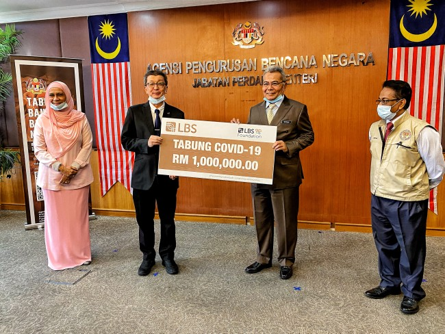 LBS Foundation Contributes Rm1 Million To Nadma Covid-19 Fund