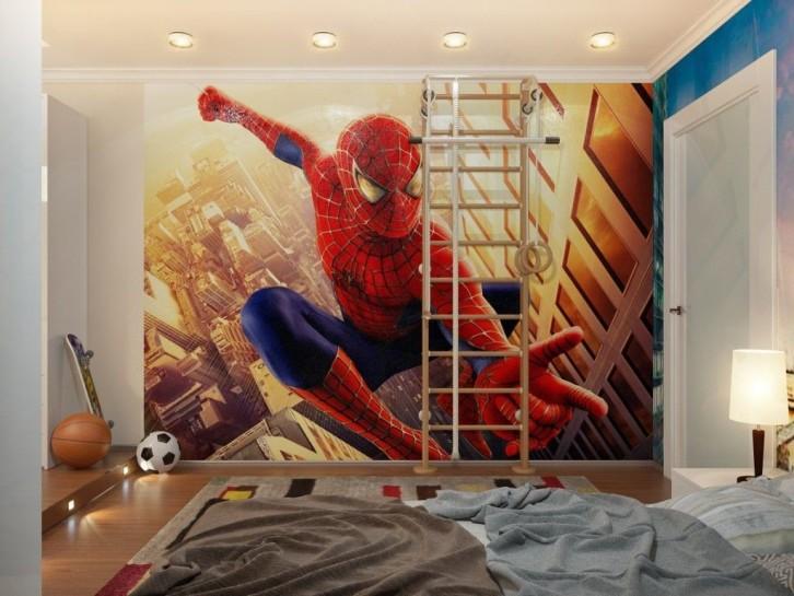 Kamar Serba Merah Ala Spiderman