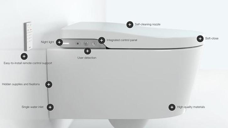 smart toilet Membersihkan tanpa harus disentuh