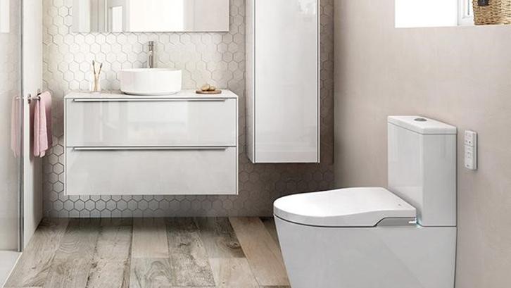 smart toilet - Menggunakan kontrol yang mudah