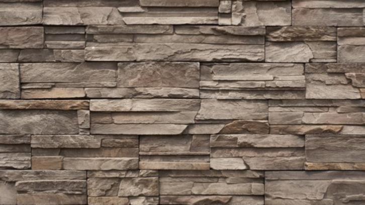Batu alam pada dinding