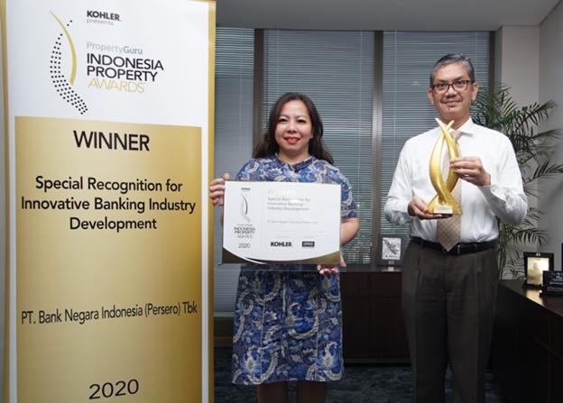 pic: Marine Novita – Country Manager Rumah.com, Irwan Gurning - PGS GM SLN at PT. BANK NEGARA INDONESIA (Persero) Tbk.