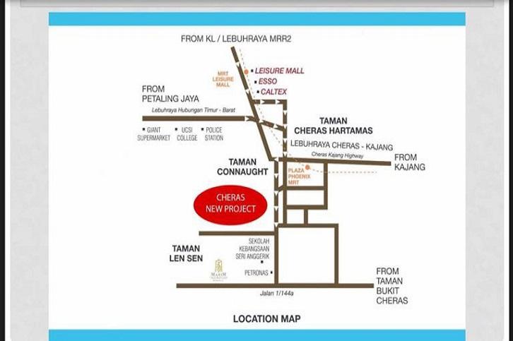 Majestic Maxim, Cheras Location Map
