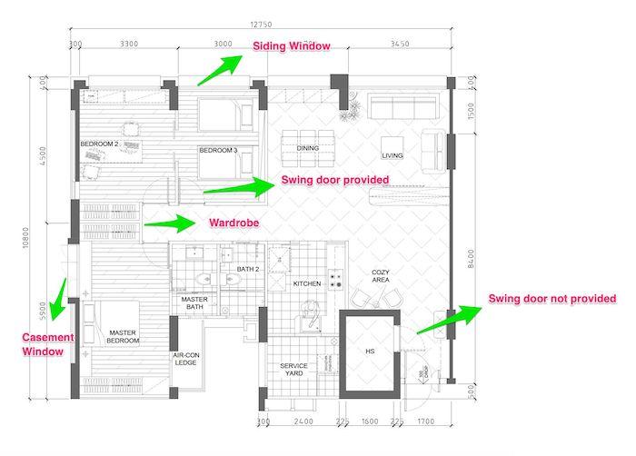 how to read an hdb floor plan