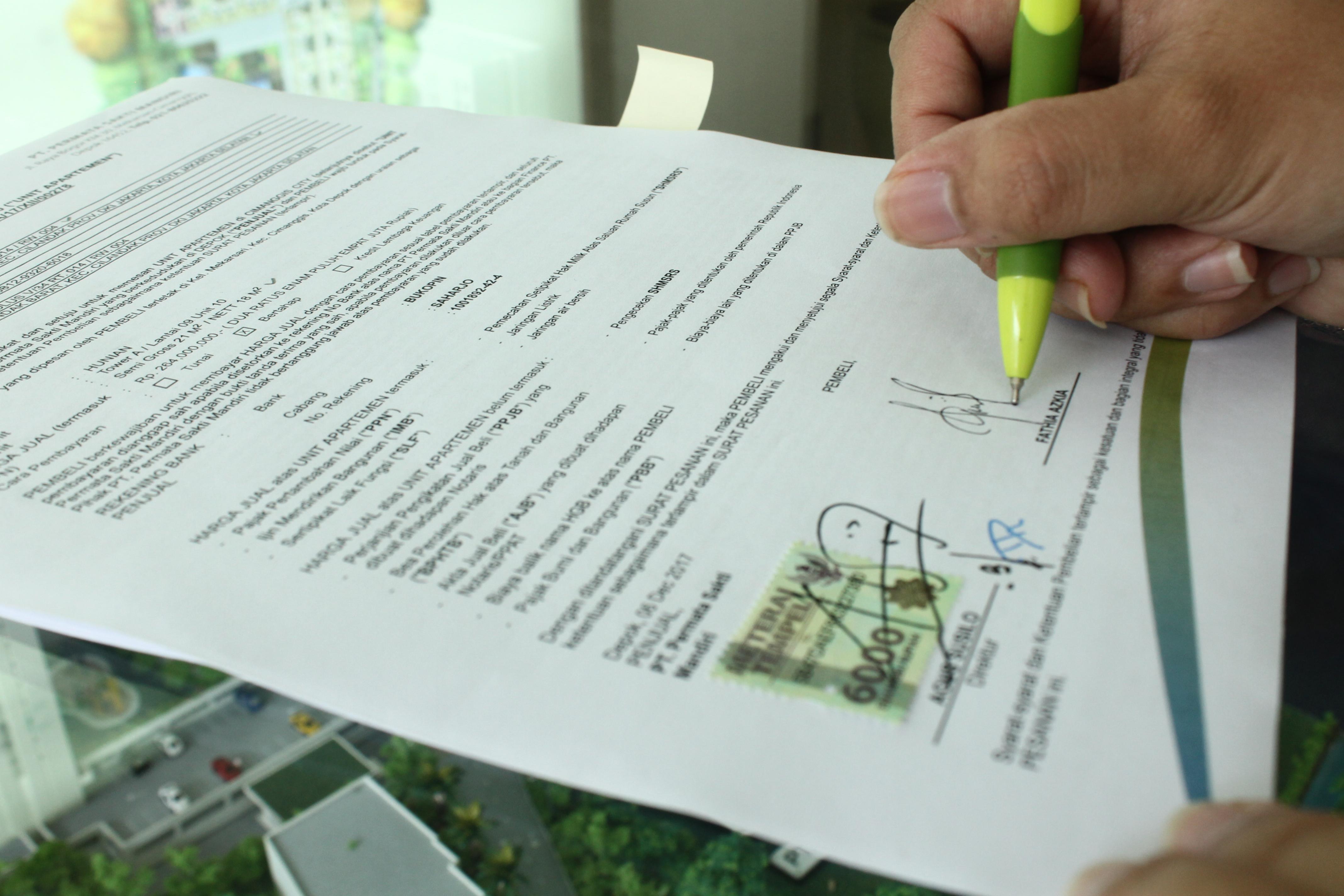 Surat Perjanjian Sewa Ruko Beserta Contohnya