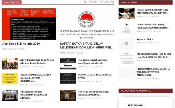Ikatan Notaris Indonesia telah menyediakan situs untuk informasi tentang profesi notaris.