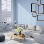 living room loft interior. 3d rendering