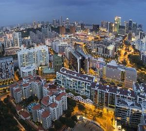 18662502 - singapore skyline along singapore river at blue hour