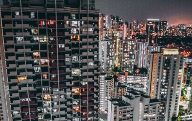unsplash-singapore hdb night time lights