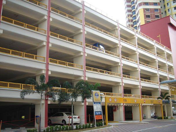 A multi storey HDB car park