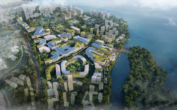 An artist's impression of the aerial view of Punggol Digital District - PropertyGuru Singapore