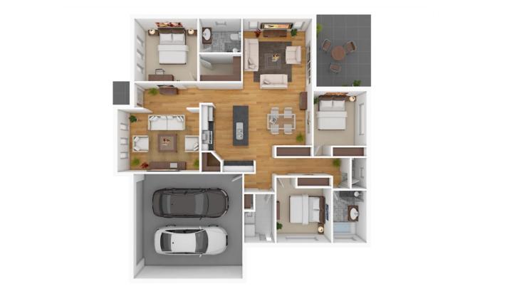 Denah Rumah Minimalis Untuk Tiga Kamar Tidur Rumah Com