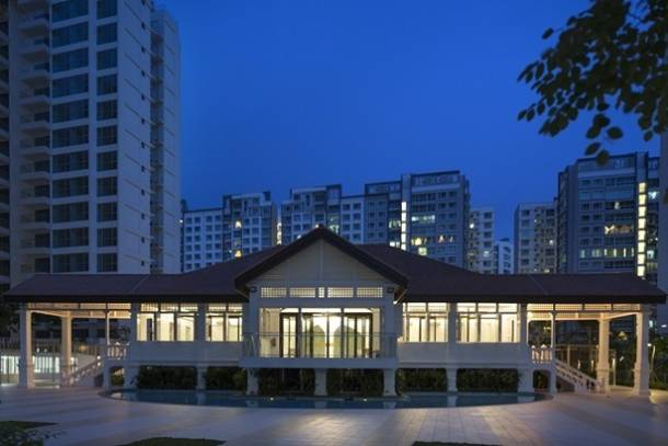 The Matilda House at Punggol in the evening