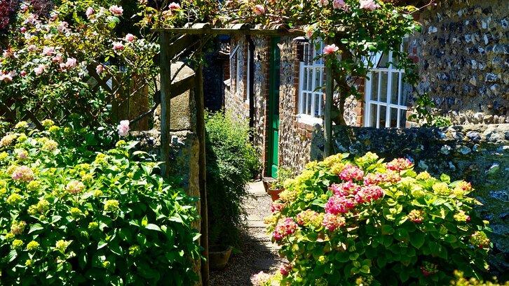 Taman belakang rumah minimalis berkesan romantis. (Foto: Pixabay-Mikes-Photography)
