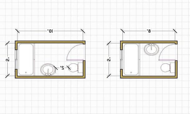 Denah kamar mandi sederhana untuk lahan terbatas. (Foto: Sonicecapsule.com)