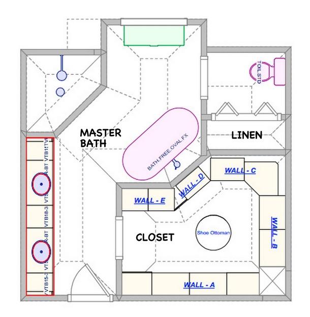 Kalau hunian Anda besar, denah kamar mandi ini bisa semakin memaksimalkan kenyamanan Anda. (Foto: Majoys.com)