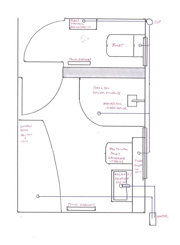 Memisahkan antara toilet dan ruang basuh, denah kamar mandi ini memberikan privasi ekstra. (Foto: Thevirginer.com)