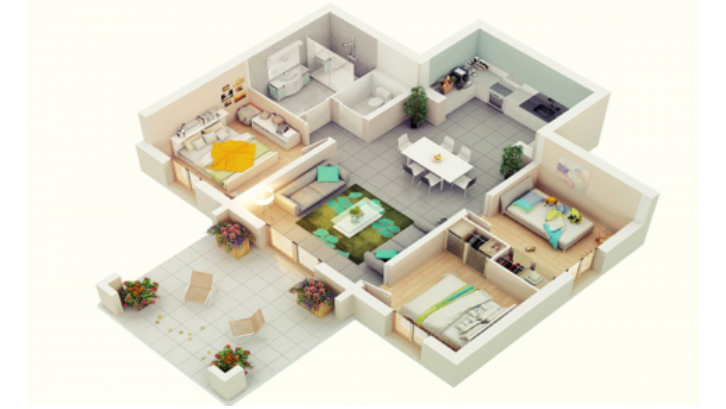 Denah Rumah Minimalis 3 Kamar Tidur Tanpa Garasi ini gambar denah rumah minimalis impian anda rumah com