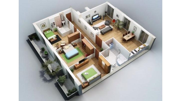 Contoh Denah Rumah Minimalis Type 54  ini gambar denah rumah minimalis impian anda rumah com
