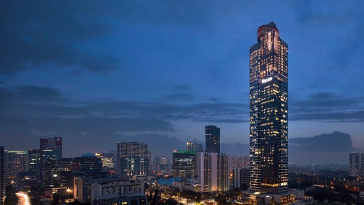Konsep green building diterapkan pada gedung pencakar langit nomor satu di Jakarta ini. (Foto: marriott.com)