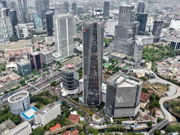 Berada di jantung Jakarta, gedung pencakar langit milik Telkom ini mudah diakses. (Foto: tlt.co.id)