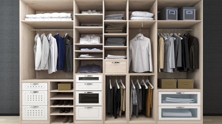 Panduan Ukuran Lemari Pakaian Dalam Kamar Rumah Com Rumah Com