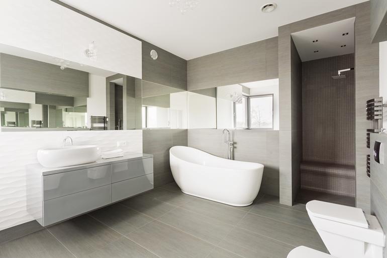 White exclusive washroom