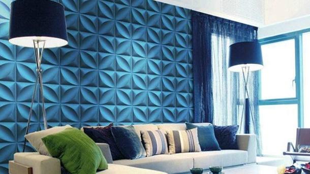 Dengan pemasangan yang tepat dan efek bayangan yang kuat, keramik dinding 3 dimensi akan nampak hidup. (Foto: Art3d.com)