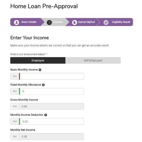 PropertyGuru Home Loan Pre-Approval solution