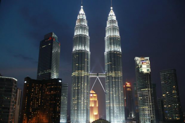 Malaysia's tallest building, The Petronas Twin Towers