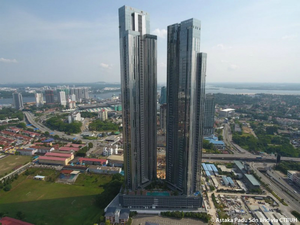 Malaysia's tallest building, The Astaka Tower A