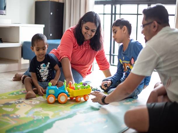 Indian expats living in a condo in Tampines