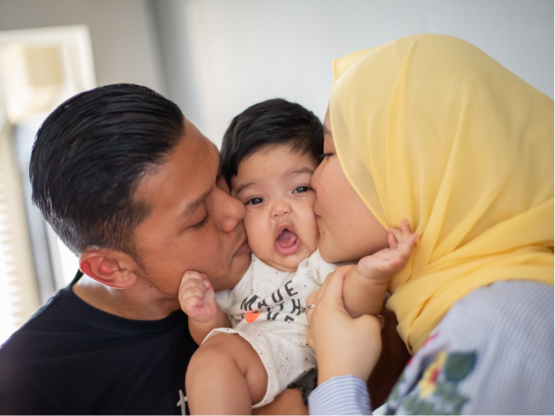 Young family living in a 5A HDB flat in Marsiling