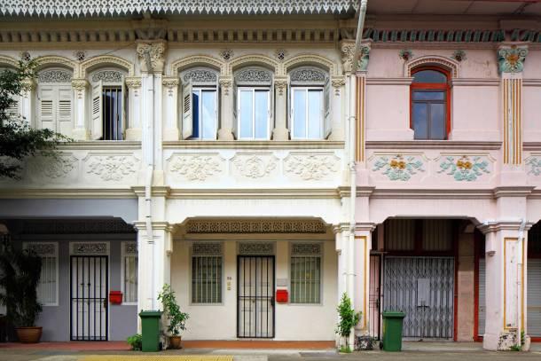 Front facade of shophouses often follow a common aesthetic - PropertyGuru-Singapore