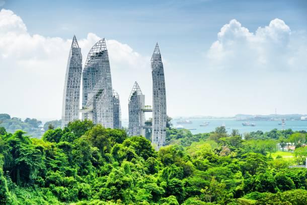 Picturesque view from the Henderson's highest pedestrian bridge in Singapore - PropertyGuru Singapore