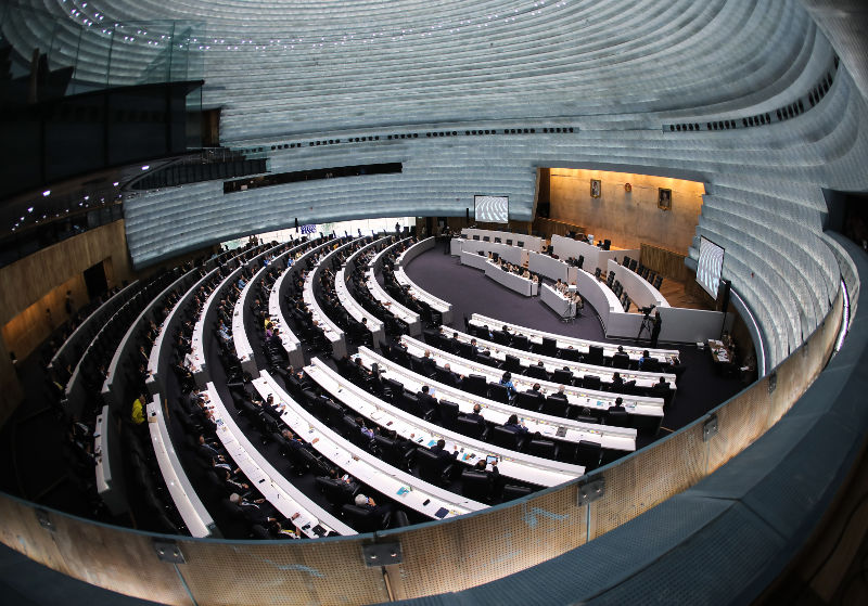 ห้องประชุมจันทราในสัปปายะสภาสถาน รัฐสภาแห่งใหม่