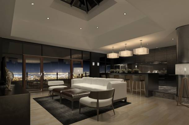 The large space allows for set ups such as a bar counter in Penthouses - PropertyGuru Singapore