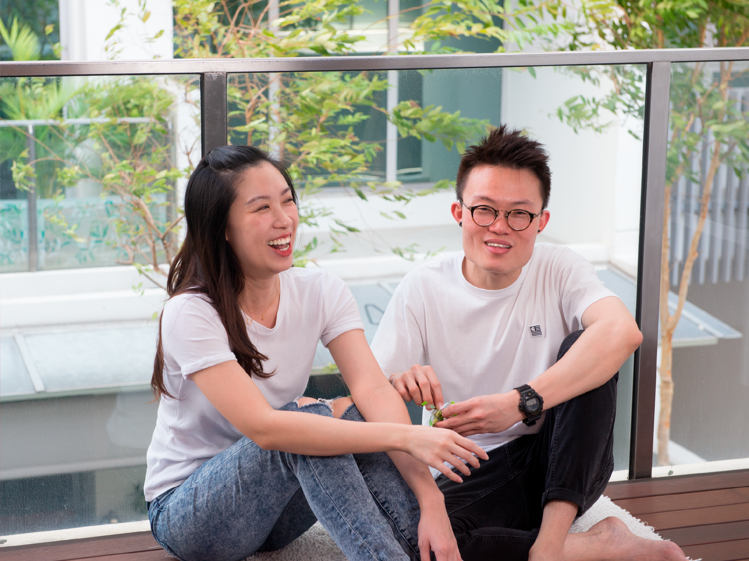Young couple living in a condo in Boon Keng