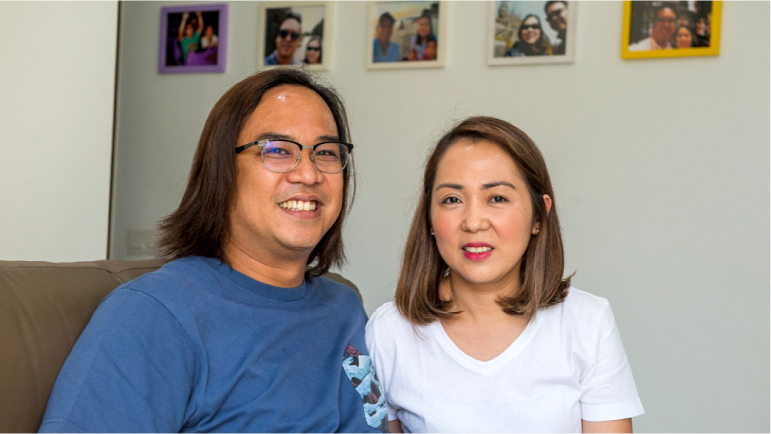 Foreign couple living in a 4-room condo in Pasir Ris