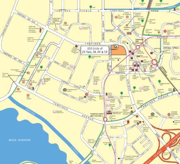 Tampines Nov 19 HDB BTO sales launch Location Map - PropertyGuru Singapore