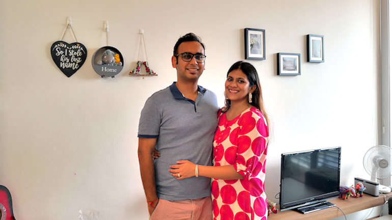 PG Home Stories couple Ankit and Pooja Sin Ming condominium