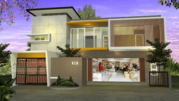 Contoh uko minimalis 1 lantai di rumah. (Foto: Faiz/Arsitag)