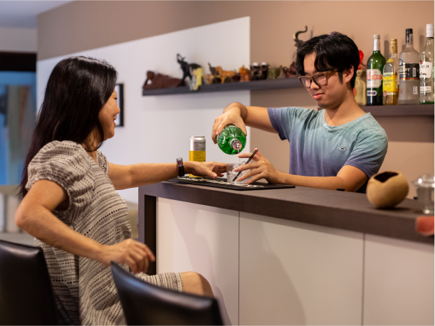 Mother and Son In An Executive Apartment in Punggol