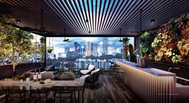 The Iveria freehold condo district 9 sky dining