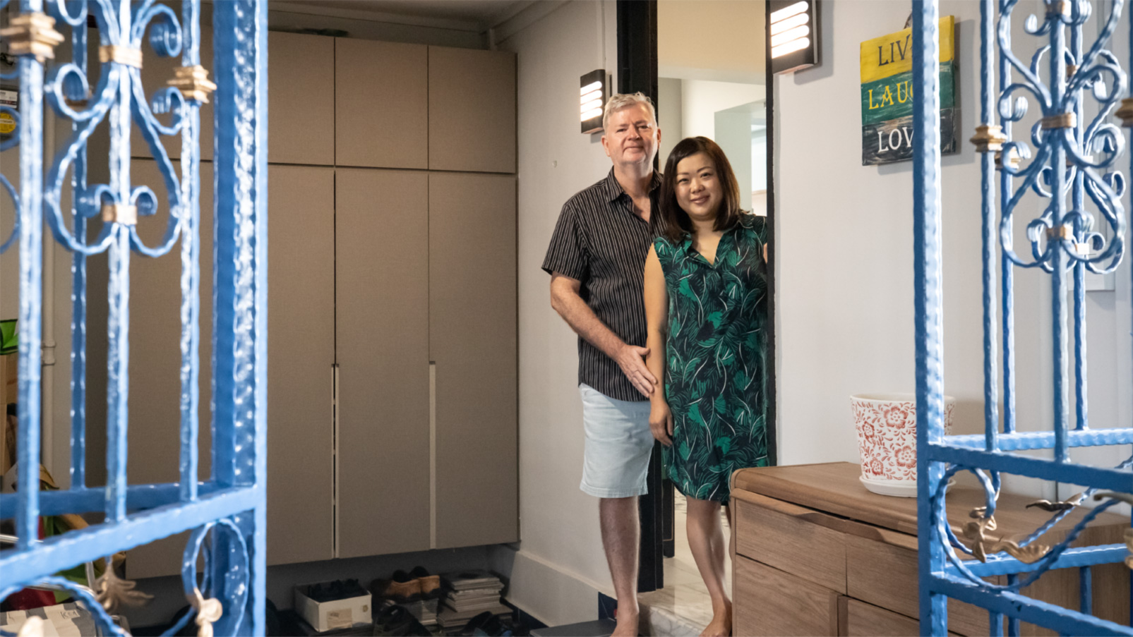 Mixed-couple living in an HDB flat in Bedok