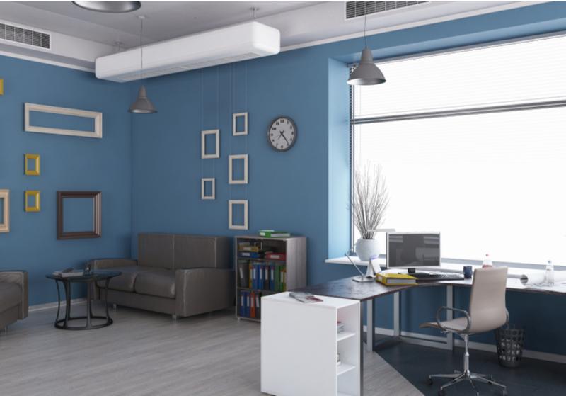 การจัดบ้านให้รวยด้วยห้องทำงานสีฟ้า