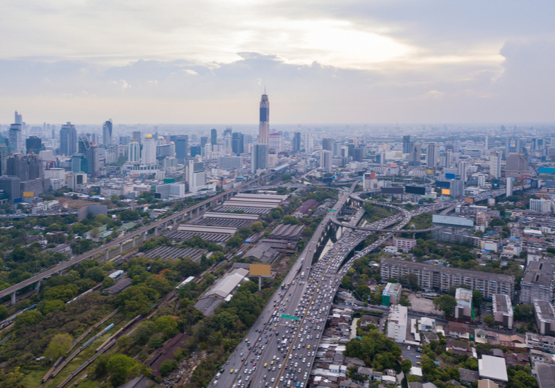 ทำเลเส้นทางรถไฟฟ้าสายสีส้ม ช่วงถนนพระราม 9 เขตเศรษฐกิจใหม่