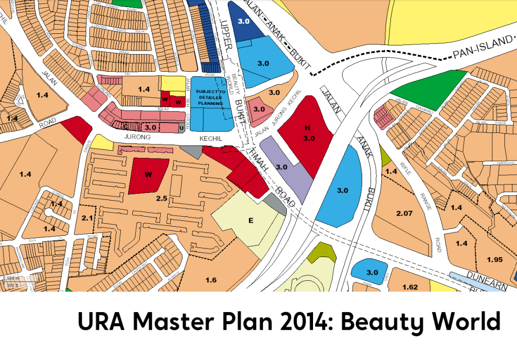 Beauty World URA Master Plan 2019 map