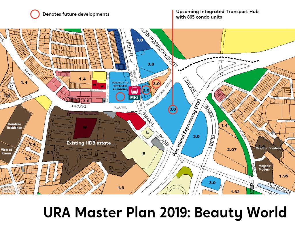 Beauty World URA Master Plan 2014 map